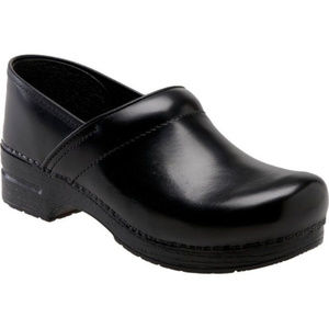 DANSKO XP BLACK LEATHER CLOGS ~ 40 ~ 10 ~